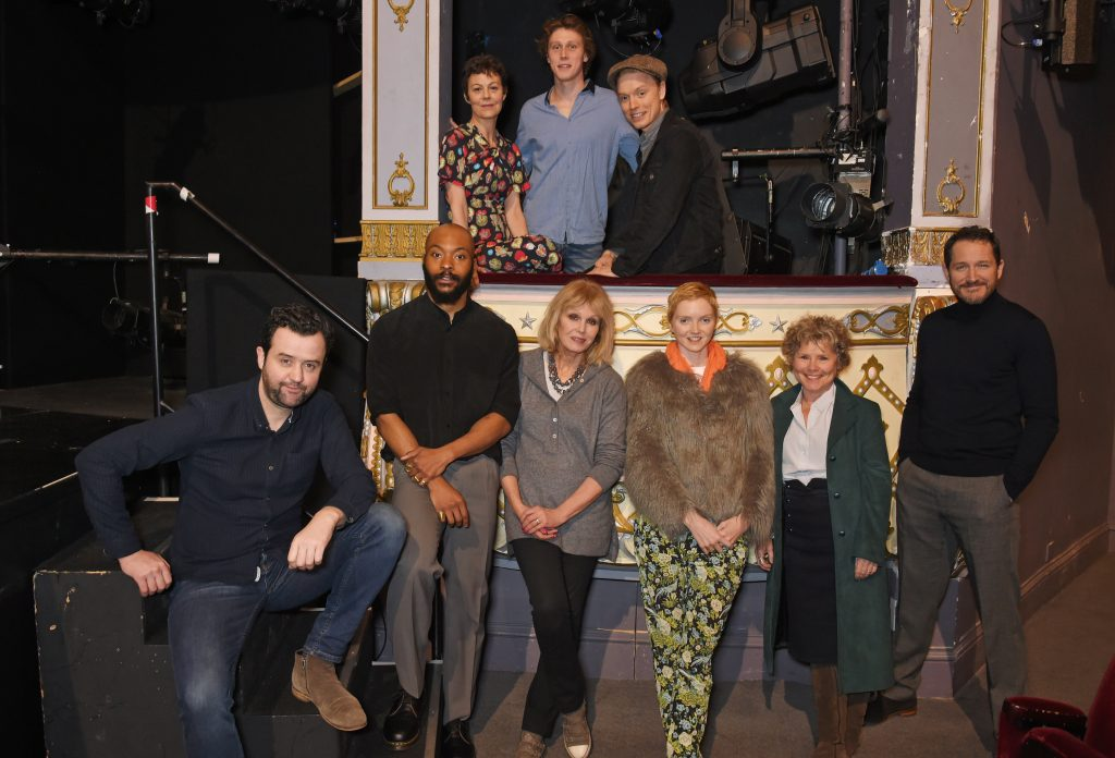 LONDON, ENGLAND - FEBRUARY 09: The Old Vic announces bicentenary ambassadors including (back L-R) Helen McCrory, George MacKay, Freddie Fox and (front L-R) Danny Mays, Arinze Kene, Joanna Lumley, Lily Cole, Imelda Staunton and Bertie Carvel, who will lend their support to the theatre's 200th birthday on February 9, 2018 in London, England.  Pic Credit: Dave Benett