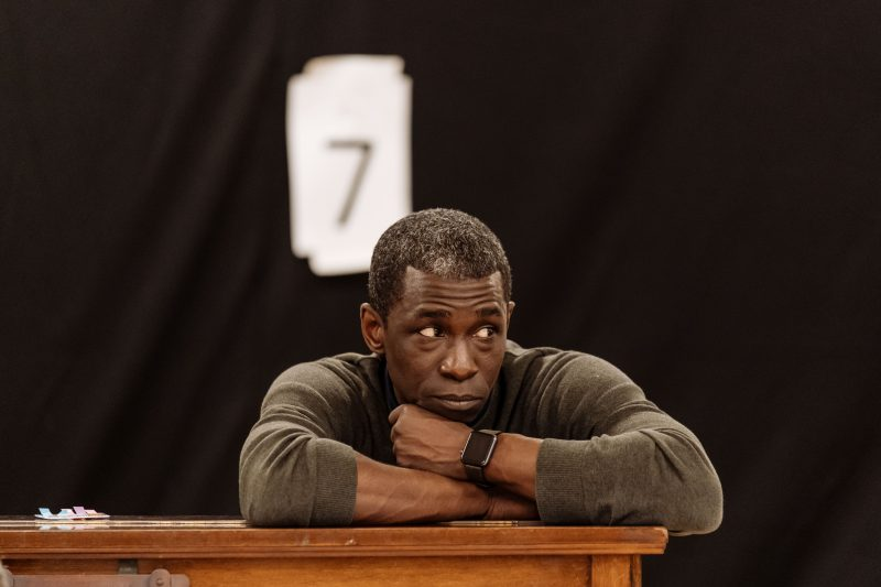Abdul Salis in regearsals for The American Clock