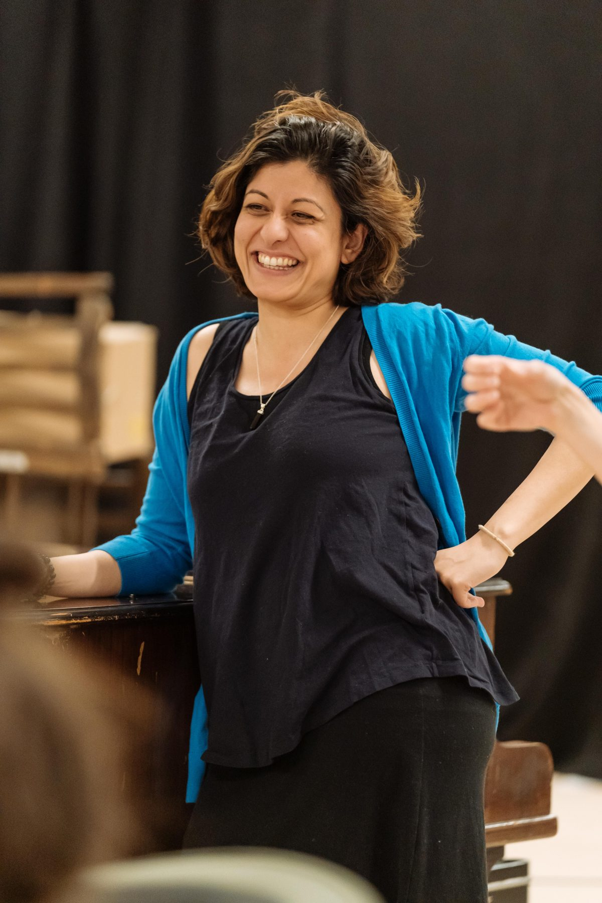 Amber Aga in rehearsals for The American Clock