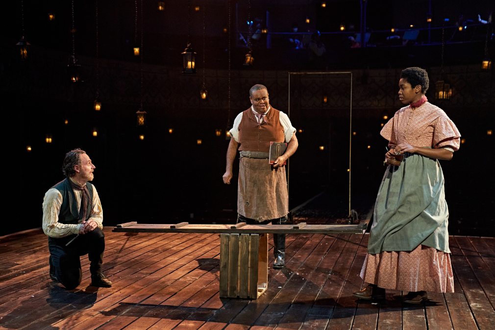 Andrew Lincoln, Clive Rowe and Gloria Obianyo in A Christmas Carol