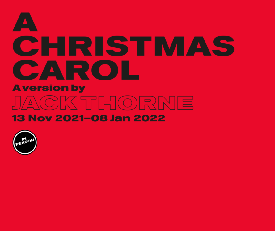 A Christmas Carol in person lead artwork