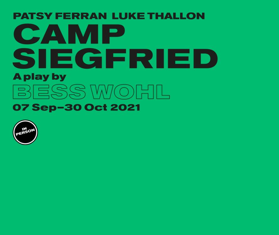Camp Siegfried in person - lead artwork