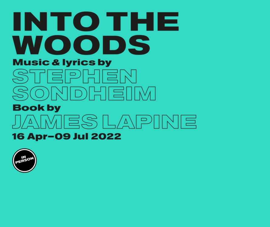 Into The Woods in person - lead artwork