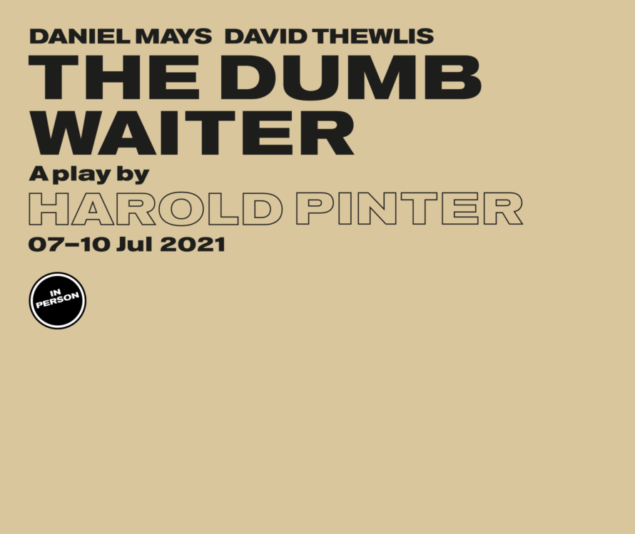 The Dumb Waiter in person - lead artwork