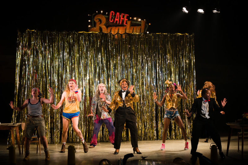 the cast dancing